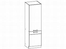 Bog Fran MODENA, potravinová skříň D60C, bílý lesk