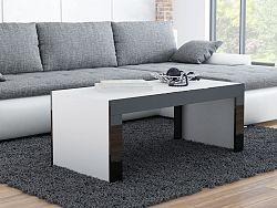 CAMA Konferenční stolek TESS, bílý mat/černý lesk