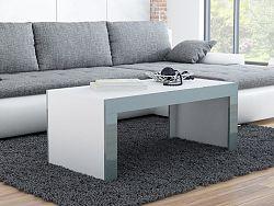 CAMA Konferenční stolek TESS, bílý mat/šedý lesk