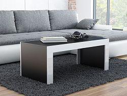 CAMA Konferenční stolek TESS, černý mat/bílý lesk