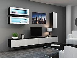CAMA *Obývací stěna VIGO 11, černá/bílý lesk