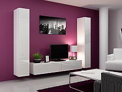 CAMA *Obývací stěna VIGO 4 B, bílá/bílý lesk