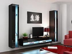 CAMA *Obývací stěna VIGO NEW 3, černá/černý lesk
