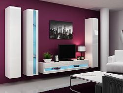CAMA *Obývací stěna VIGO NEW 7, bílá/bílý lesk