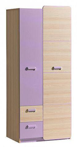 Casarredo LORENTTO, kombinovaná skříň L1, jasan/fialová