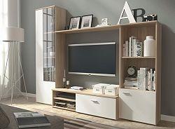 Casarredo Obývací stěna HUGO sonoma/bílá