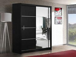 Casarredo Šatní skříň VISTA 150 černá