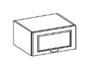 CHAMONIX, skříňka horní 60 OK-40, dub Ferrara/ legno tmavé