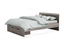 DEMEYERE DYVA, postel 140x190 cm se zásuvkou, dub prata
