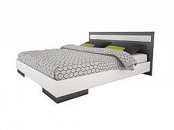 DEMEYERE EFY, postel 160x200 cm, bílá/grafit