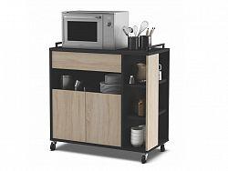 DEMEYERE INDAS, kuchyňská skříňka 2D1S, dub/černá