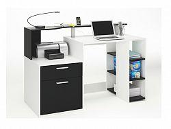 DEMEYERE ORAKLE, psací stůl, bílá/černá