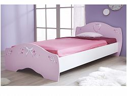 DEMEYERE PAPILON, postel 90x190, bílá/růžová