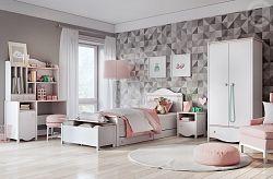 Dětský pokoj MIA, bílá/růžová