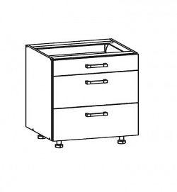EDAN dolní skříňka D3S 80 SAMBOX, korpus bílá alpská, dvířka dub reveal