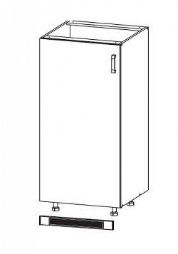 EDAN dolní skříňka DL60/143, korpus šedá grenola, dvířka béžová písková