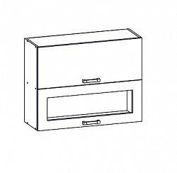 EDAN horní skříňka G2O 80/72, korpus šedá grenola, dvířka dub reveal