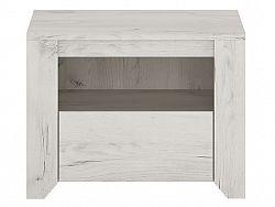 Extom ANGEL, noční stolek, dub bílý