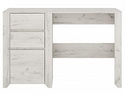 Extom Elegantní psací stůl ANGEL 3S, dub bílý