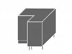 Extom EMPORIUM, skříňka dolní rohová D12 90, korpus: grey, barva: grey stone