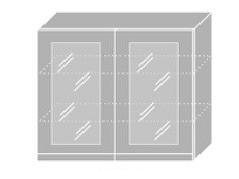 Extom EMPORIUM, skříňka horní prosklená W3S 90, korpus: jersey, barva: grey stone