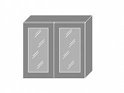 Extom GOLD LUX, skříňka horní prosklená W3s 80, korpus: jersey, barva: dub pestka
