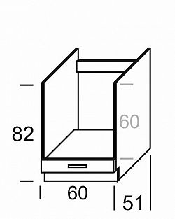 Extom KAMDUO, dolní skříňka DP6, dub sonoma/láva
