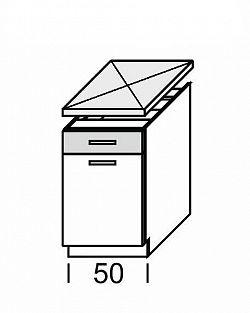 Extom KAMDUO, dolní skříňka DUO DS5/1, zebrano/hruška