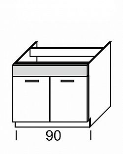 Extom KAMDUO, dolní skříňka DUO DZ9, zebrano/hruška