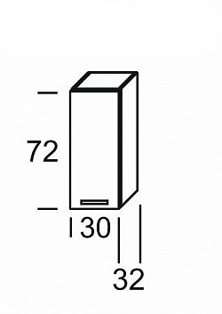 Extom KAMDUO, horní skříňka DUO W3, dub sonoma