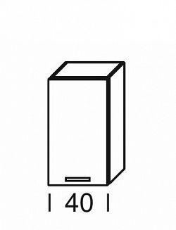 Extom KAMDUO, horní skříňka DUO W4, zebrano/hruška