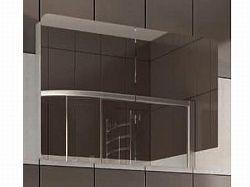 Extom LINATE/160, skříňka se zrcadlem,alpská bílá/trufla