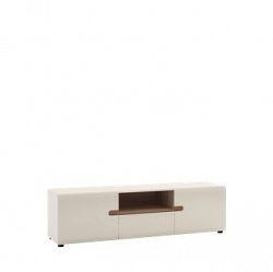 Extom LINATE/50, RTV stolek 2D1S, alpská bílá/trufla