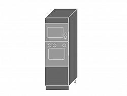 Extom PLATINUM, skříň pro vestavbu D5AM/60/154, korpus: bílý, barva: black