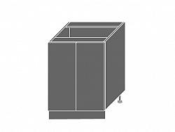 Extom PLATINUM, skříňka dolní D11 60, korpus: bílý, barva: camel