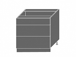 Extom PLATINUM, skříňka dolní D3E 80, korpus: bílý, barva: black stripes