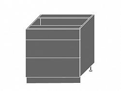 Extom PLATINUM, skříňka dolní D3E 80, korpus: bílý, barva: deep red