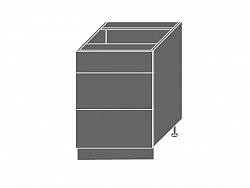 Extom PLATINUM, skříňka dolní D3m 60, korpus: bílý, barva: black stripes