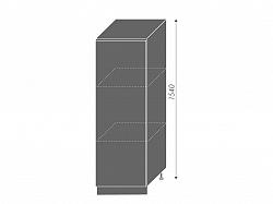 Extom PLATINUM, skříňka dolní  D5D/60/154, korpus: bílý, barva: black