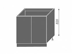 Extom PLATINUM, skříňka dolní dřezová D8z 80, korpus: bílý, barva: black stripes