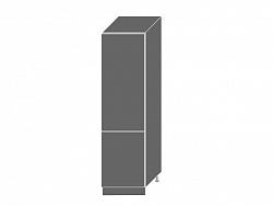 Extom PLATINUM, skříňka pro vestavnou lednici D14DL 60, korpus: bílý, barva: deep red