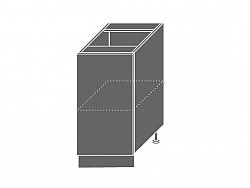 Extom QUANTUM, skříňka dolní D1D 40, beige mat/grey