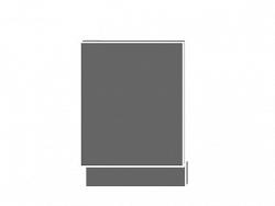 Extom TITANIUM, dvířka pro vestavbu ZM-57/45, sokl: grey, barva: fino bílé