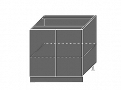 Extom TITANIUM, skříňka dolní D11 80, korpus: lava, barva: fino bílé