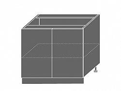 Extom TITANIUM, skříňka dolní D11 90, korpus: grey, barva: fino bílé