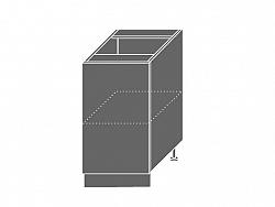 Extom TITANIUM, skříňka dolní D1D 45, korpus: grey, barva: fino černé
