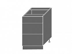 Extom TITANIUM, skříňka dolní D3m 50, korpus: grey, barva: fino bílé