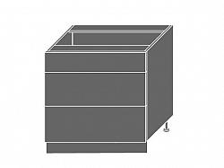 Extom TITANIUM, skříňka dolní D3m 80, korpus: jersey, barva: fino černé