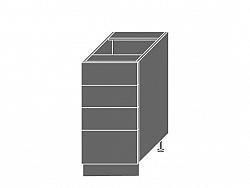 Extom TITANIUM, skříňka dolní D4m 40, korpus: lava, barva: fino bílé