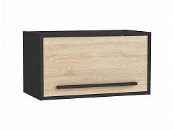 FEBRIK, skříňka výklopná 60 cm, dub sonoma/černá